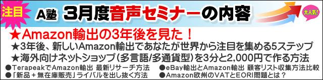 Amazonコンサルタント2013年03月度音声セミナー