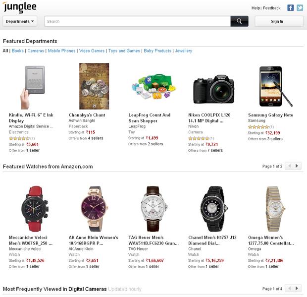 インドAmazonがついに誕生?Amazonがインドで「Junglee」をオープン
