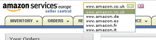 Amazon欧州の管理画面2