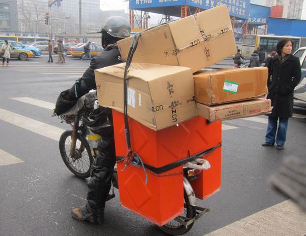 Amazon中国の配達状況を伝える画像2
