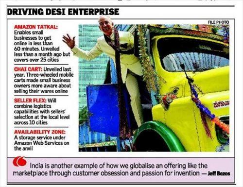 Amazonは、インドで誰でも60分以内にセラーになれる「Tatkal」というサービスを始めた