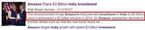 Amazon インドに30億ドル追加融資