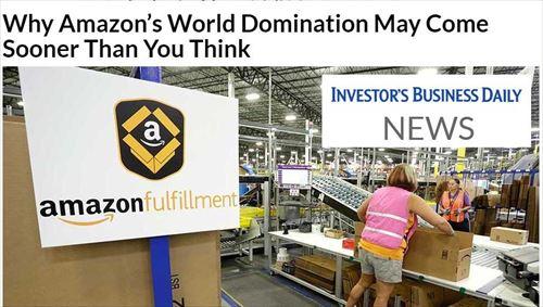 なぜAmazonは、あなたが考えているより早く、世界を制覇するのか?