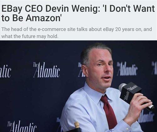 Amazonの破壊的な躍進の前に、eBayのCEOはなすすべがない!?
