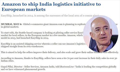 Amazon、欧州とインドを結ぶ物流システムを強化