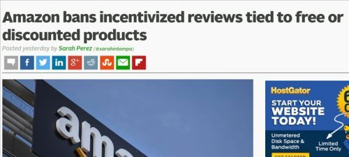 Amazon bans incentivized reviews tied to free or discounted products