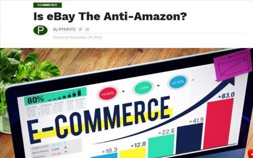 Is eBay The Anti-Amazon? (eBayは、アンチAmazonなのか?)