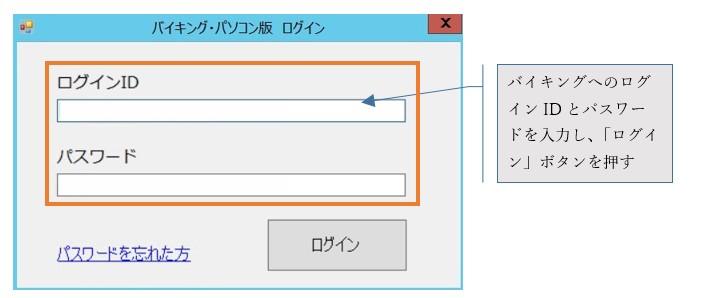 バイキング・パソコン版 ログイン画面解説