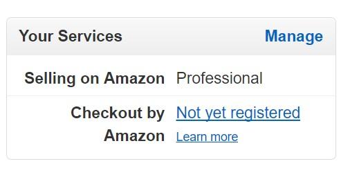 左下の方に「Your Services」という項目があるので、そこの「Manage」をクリックします。