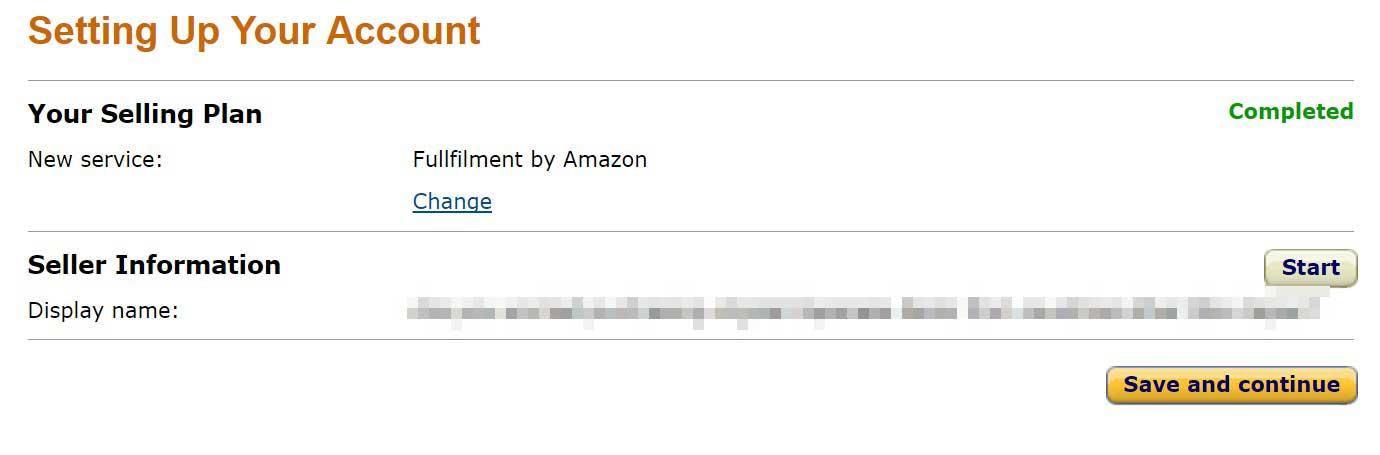 私の管理画面ではすでに有効になっているのですが、ここで「Fulfilment by Amazon」という項目を無効から有効にすることができますので、それを実行してください。