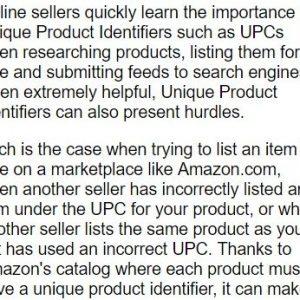 GS1 USの副社長のインタビュー記事。格安で購入できる商品UPCコードがさまざまな問題を引き起こしていることに警鐘を鳴らし、正しい商品UPCコードの普及を訴えている。