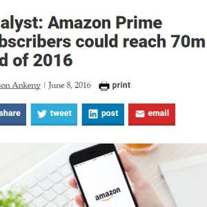 Amazon米国のプライム会員 米国世帯の過半数に