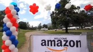 Amazon米国 従業員のピクニックの様子