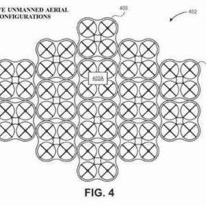 アマゾンが多数のドローンが合体する「メガドローン」特許を取得
