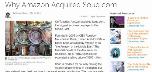 Why Amazon Acquired Souq.com