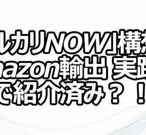「メルカリNOW」構想はAmazon輸出 実践編で紹介済み?!